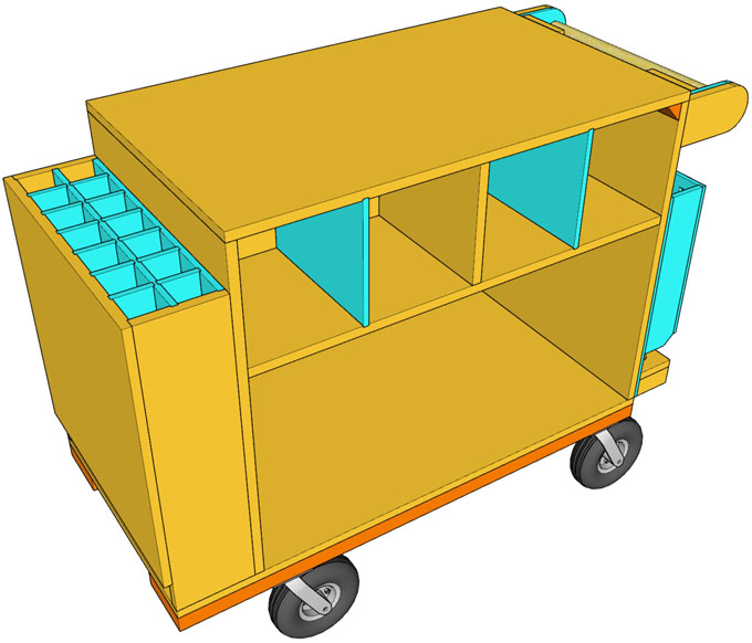 SketchUp Drawing of Cart Overview