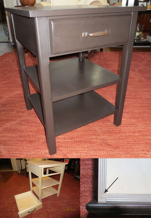 Composite Image of the Computer Side Table