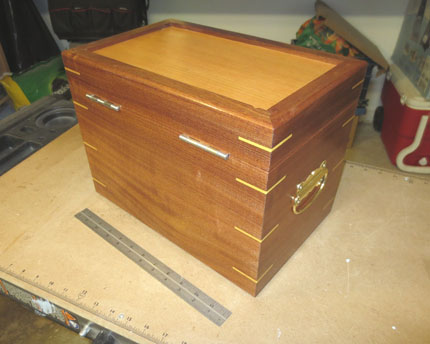Back of the Sapele Box with 12-inch Scale